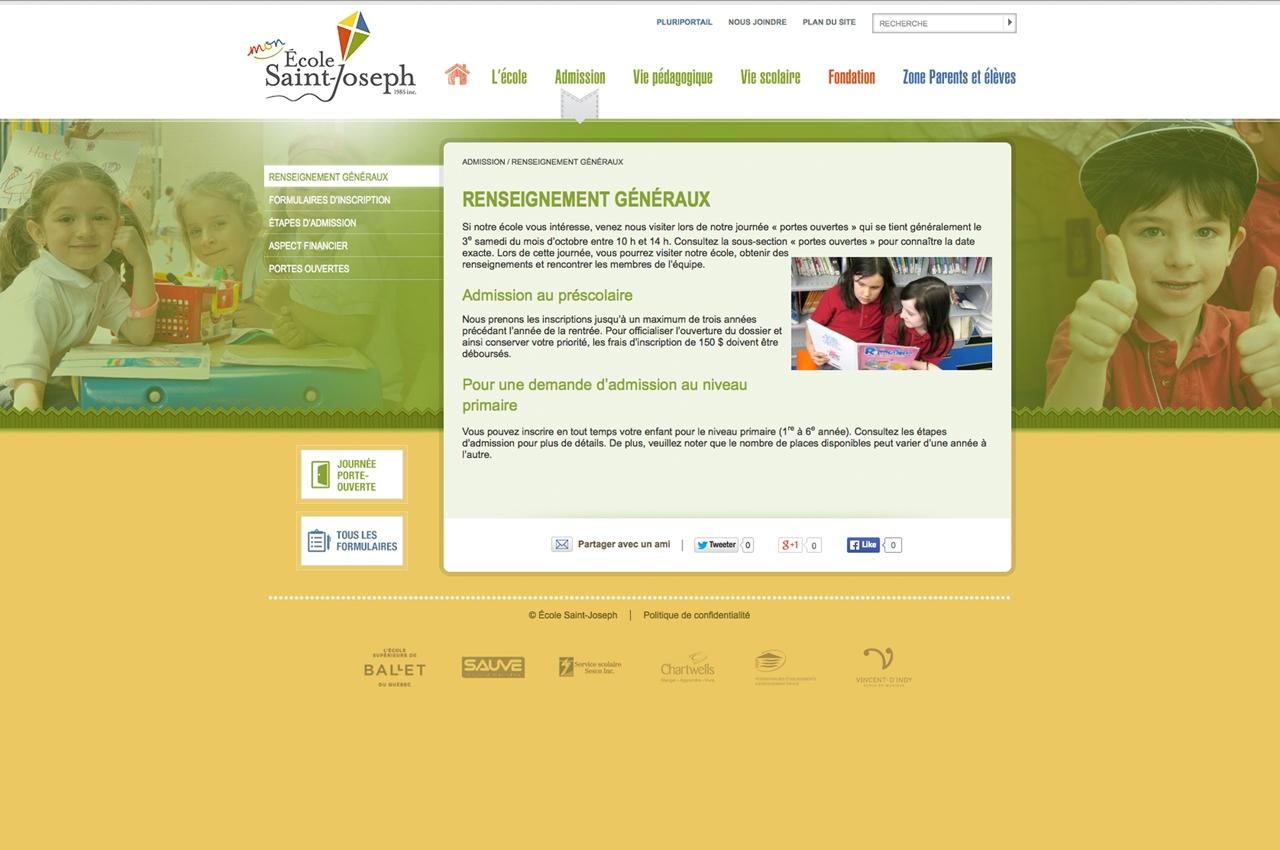 Ecole Saint-Joseph site web